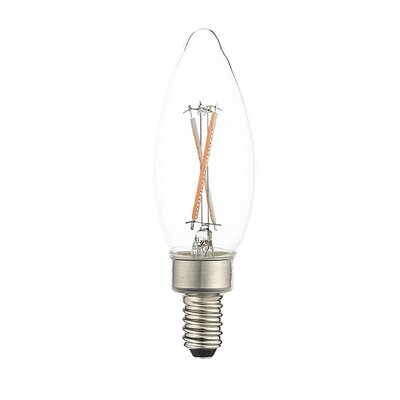 E12 LED Candle Edison Light Bulb (Set of 10) Wattage: 3W, Bulb Temperature: 2700 K, Dimmable: Yes
