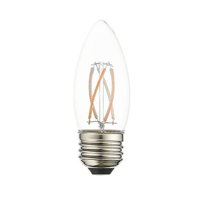 4W Equivalent E26 LED Candle Edison Light Bulb (Set of 10)