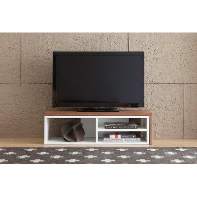 Move 43 TV Stand Color: Walnut / Pure White