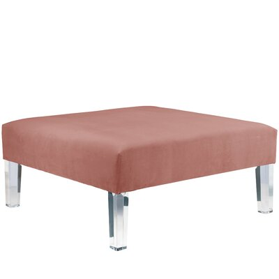 Herbst Ottoman Color: Regal Mahogany Rose
