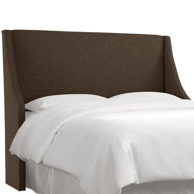 Crumrine Swoop Arm Upholstered Wingback Headboard Size: Queen, Color: Zuma Espresso