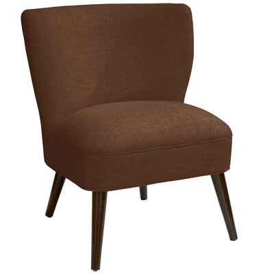 Harpe Curved Side Chair Color: Linen Chocolate