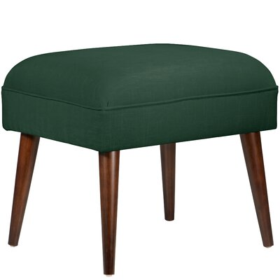 Cilley Espresso Ottoman Color: Linen Conifer Green