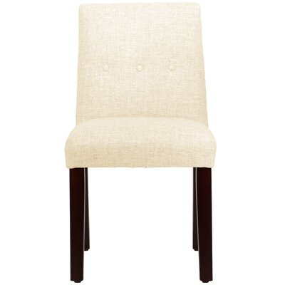 Cieslak Tapered Upholstered Dining Chair Color: Zuma White