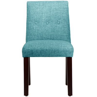 Cieslak Tapered Upholstered Dining Chair Color: Zuma Peacock