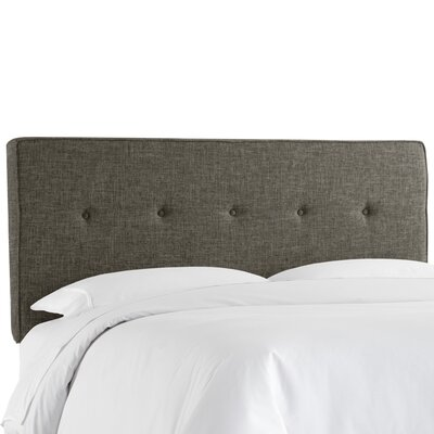 Deforest Tufted Upholstered Panel Headboard Size: Queen, Color: Zuma Charcoal
