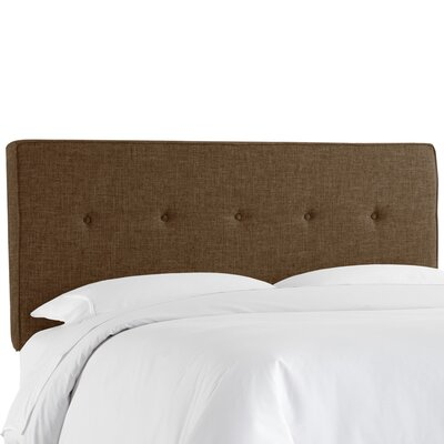 Deforest Tufted Upholstered Panel Headboard Size: Full, Color: Zuma Espresso