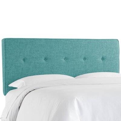 Deforest Tufted Upholstered Panel Headboard Size: Full, Color: Zuma Peacock