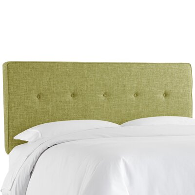 Deforest Tufted Upholstered Panel Headboard Size: Twin, Color: Zuma Wasabi