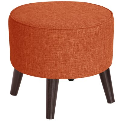 Ciccone Round Splayed Legs Ottoman Color: Zuma Atomic