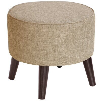 Ciccone Round Splayed Legs Ottoman Color: Zuma Linen