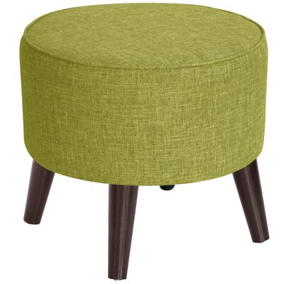 Ciccone Round Splayed Legs Ottoman Color: Zuma Wasabi