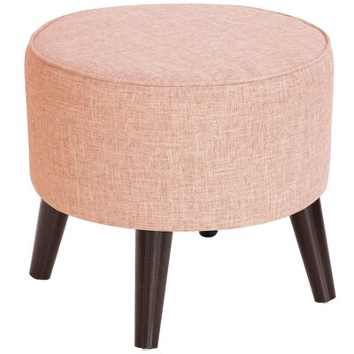 Ciccone Round Splayed Legs Ottoman Color: Zuma Rosequartz