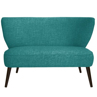 Cifuentes Armless Loveseat Color: Zuma Peacock