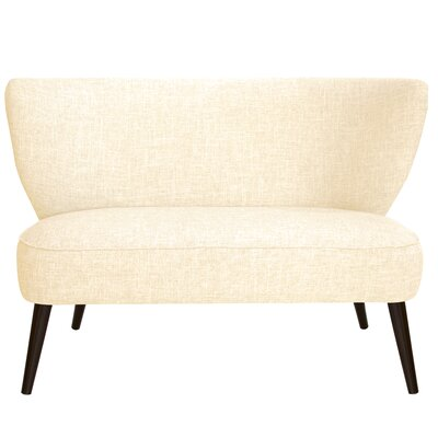 Cifuentes Armless Loveseat Color: Zuma White