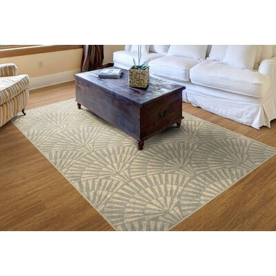 Howerton Art Deco in Neutral Beige Area Rug Rug Size: Rectangle 76 x 10