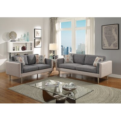 Lucero 2 Piece Living Room Set Upholstery: Ash Black/Sand