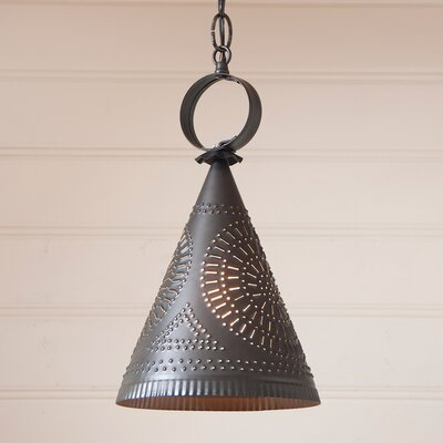 Wickersham Witchs Hat 1-Light Mini Pendant Finish: Kettle Black