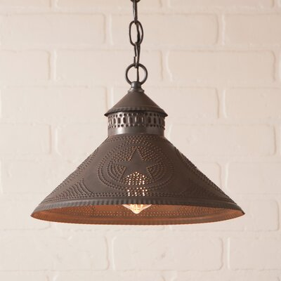 Wentworth Mansion Star 1-Light Mini Pendant Finish: Blackened Tin