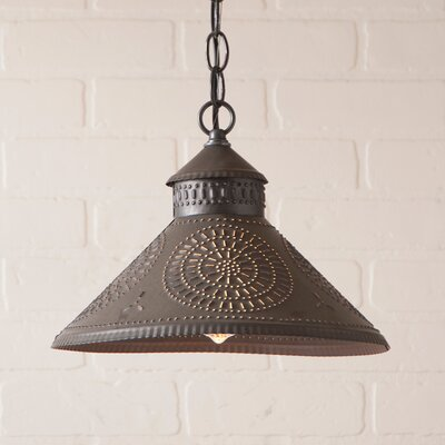 Wentworth Mansion Chisel 1-Light Mini Pendant Finish: Kettle Black