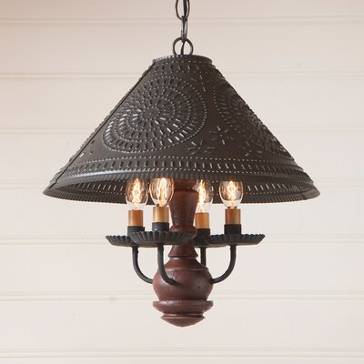 Wilberforce 4-Light Candle-Style Chandelier Finish: Plantation Red