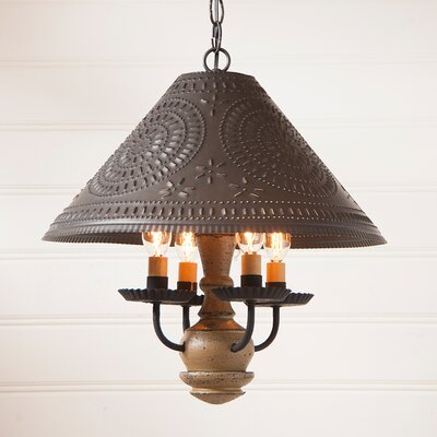 Wilberforce 4-Light Candle-Style Chandelier Finish: Pearwood