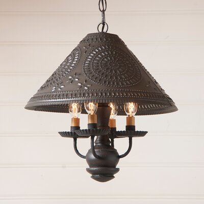 Wilberforce 4-Light Candle-Style Chandelier Finish: Black