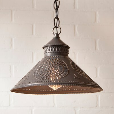 Wentworth Mansion Chisel 1-Light Mini Pendant Finish: Blackened Tin