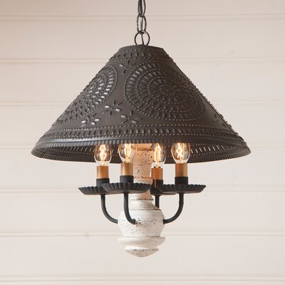 Wilberforce 4-Light Candle-Style Chandelier Finish: Vintage Red