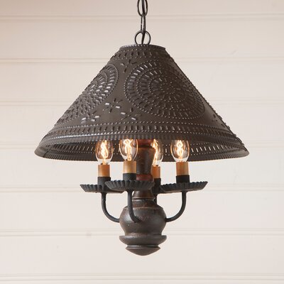 Wilberforce 4-Light Candle-Style Chandelier Finish: Salem Brick