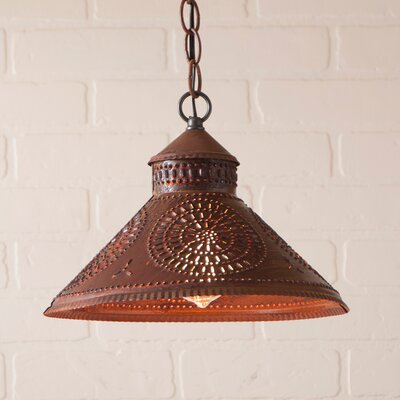 Wentworth Mansion Chisel 1-Light Mini Pendant Finish: Rustic Tin