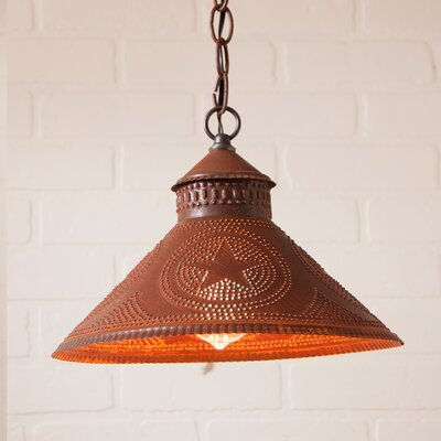 Wentworth Mansion Star 1-Light Mini Pendant Finish: Rustic Tin