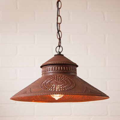 Wesleyan Chisel 1-Light Mini Pendant Finish: Rustic Tin