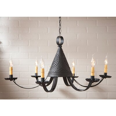Weldon Punched Tin 6-Light Candle-Style Chandelier