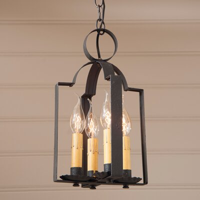 Wellston Double Saddle 4-Light Foyer Pendant