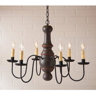 Whetstone Wood 6-Light Candle-Style Chandelier Finish: Americana Espresso