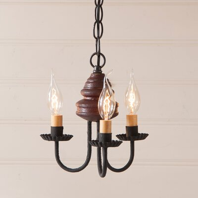 Whitehorn Wood 3-Light Candle-Style Chandelier Finish: Americana Red