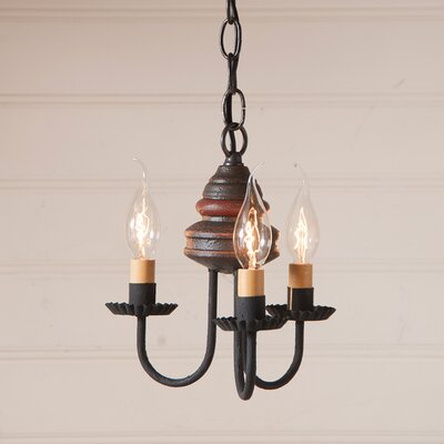 Whitehorn Wood 3-Light Candle-Style Chandelier Finish: Americana Espresso