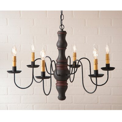 Whitechapel Wood 6-Light Candle-Style Chandelier Finish: Hartford Black with Red Stripe