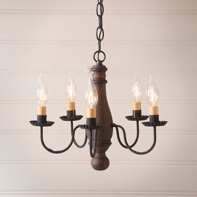 Vistawood Bed and Breakfast 5-Light Candle-Style Chandelier Finish: Hartford Pumpkin