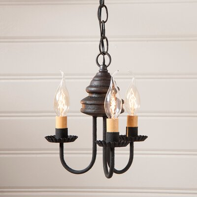 Whitehorn Wood 3-Light Candle-Style Chandelier Finish: Americana Black