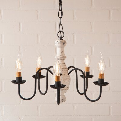 Vinoy Wood 5-Light Candle-Style Chandelier Finish: Americana White