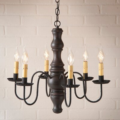 Whitechapel Wood 6-Light Candle-Style Chandelier Finish: Americana Black