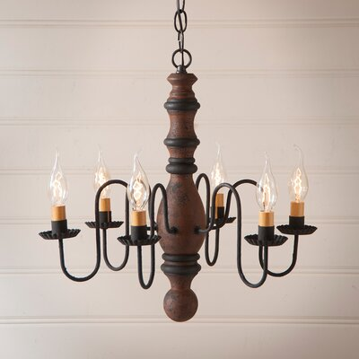 Whiteley Wood 6-Light Candle-Style Chandelier Finish: Hartford Pumpkin