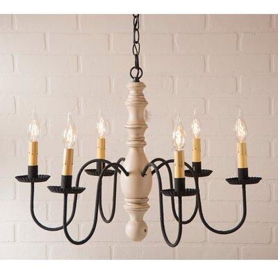 Whiteley Wood 6-Light Candle-Style Chandelier Finish: Sturbridge White