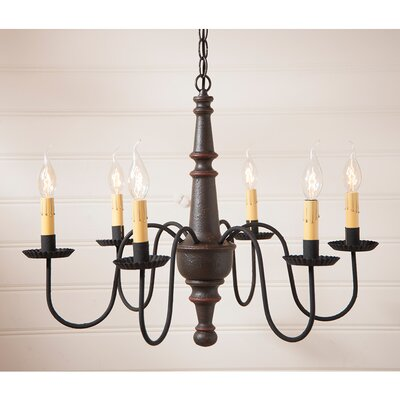 Whitmire Wood 6-Light Candle-Style Chandelier Finish: Americana Espresso