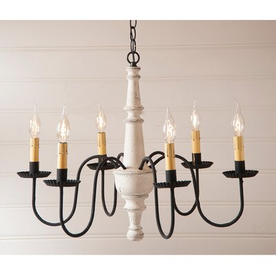 Whitmire Wood 6-Light Candle-Style Chandelier Finish: Americana White