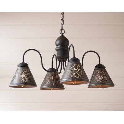 Whitmore Wood 4-Light Candle-Style Chandelier Finish: Americana Black