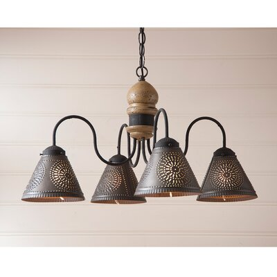 Whitmore Wood 4-Light Candle-Style Chandelier Finish: Americana Pearwood
