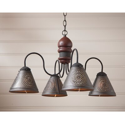Whitmore Wood 4-Light Candle-Style Chandelier Finish: Americana Red